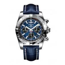 Breitling Chronomat 44 Acero inoxidable / Blackeye Azul / Croco / Pin (AB011012 / C789 / 731P / A20BA.1) Réplicas