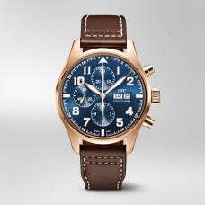 IWC de aviador Cronografo Edition Le Petit Prince Azul Dial Automatica Viento propio IW377721