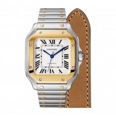 Cartier Santos Acero 18K Oro amarillo Automatica Medium