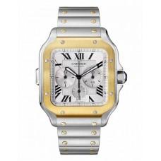 Cartier Santos Cronografo Acero 18K Oro amarillo Automatica 43.3mm W2SA0008