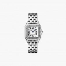 Cartier Panthere Acero Bisel de diamantes Medium Model Cuarzo W4PN0008 Complete