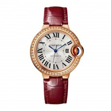 Cartier Ballon Bleu 33 mm Automatica Viento propio WJBB0033 para mujer