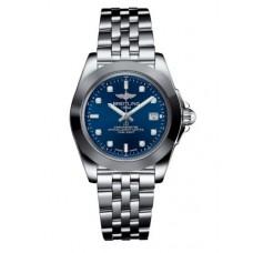 Breitling Galactic 32 Sleek Edition Azul Diamond Marcar Acero inoxidable Mujer W7133012 / C966-792A Réplicas