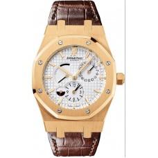 Replicas de Audemars Piguet Royal Oak Dual Time reserva de marcha hombres reloj