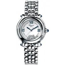 Replicas Reloj Chopard Happy Sport Steel 7diamond Redondo Senora 27/8236-23