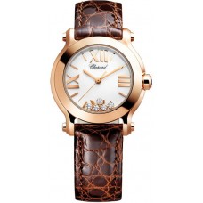 Replicas Reloj Chopard Happy Sport Redondo Cuarzo 30mm Senora 274189-5010