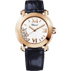 Replicas Reloj Chopard Happy Sport Redondo Cuarzo 36mm Senora 277471-5001