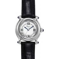 Replicas Reloj Chopard Happy Sport Classic Redondo 5 Floating Diamonds Senora 278245-3007