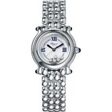 Replicas Reloj Chopard Happy Sport Classic Redondo 5 Floating Diamonds Senora 278250-3006