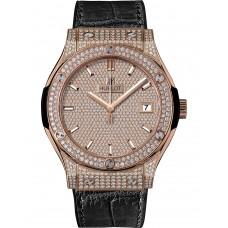 Replicas de Hublot Classic Fusion King Oro Full Pave hombres reloj