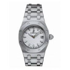 Replicas de Audemars Piguet Royal Oak Dial de plata de acero inoxidable Señoras reloj