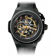 Replicas de Hublot King Power negro Mamba Chronograph 48MM
