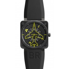 Réplica Bell & Ross BR 01-92 Heading Indicator Flight Intruments hombres reloj