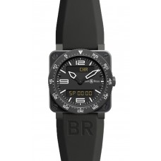 Réplica Bell & Ross BR 03 Type Aviation Carbon Cuarzo 42mm hombres reloj