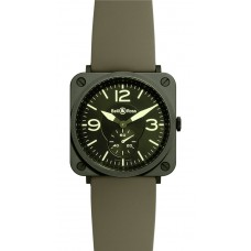 Réplica Bell & Ross BR S Military Ceramic Cuarzo 39mm Medio reloj