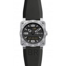 Réplica Bell & Ross BR 03 Type Aviation Acero Cuarzo 42mm hombres reloj