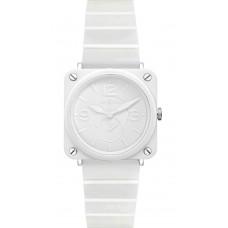 Réplica Bell & Ross BR S Cerámica blanca Phantom Pulsera Cuarzo 39mm Señoras reloj