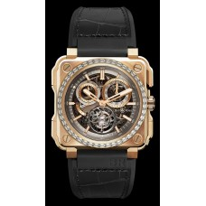 Bell & Ross BR-X1 TOURBILLON ROSE GOLD DIAMONDS Reloj de Réplicas