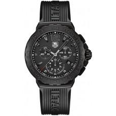 Tag Heuer Formula 1 Cronografo negro Dial negro Rubber hombres replicas de reloj