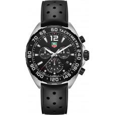 Réplicas Tag Heuer Formula 1 Chronograph Dial Negro Caucho negro CAZ1110.FT8023