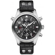 Imitación IWC Aviador Double Cronógrafo reloj para hombre IW377801