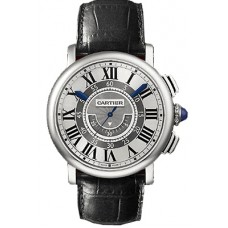 Rotonde de Cartier Central Chronograph 18kt White Gold Case Unisex Reloj W1556051