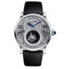 Rotonde de Cartier Double Tourbillon Manual Wind Platinum hombres Reloj W1556210