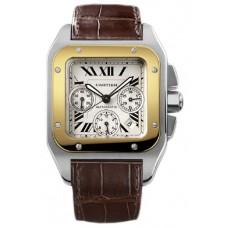 Cartier Santos 100 Chronograph hombres Reloj W20091X7
