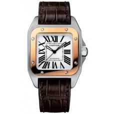 Cartier Santos 100 hombres Reloj W20107X7