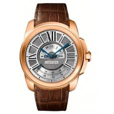 Calibre De Cartier Multiple Time Zone 18 kt Rose Gold hombres Reloj W7100025