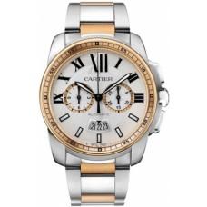 Calibre De Cartier Chronograph hombres Reloj W7100042