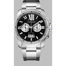 Calibre De Cartier Chronograph hombres Reloj W7100061