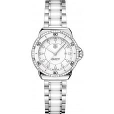 Tag Heuer Formula 1 Diamantes Senoras Blanco Ceramico & Acero replicas de reloj