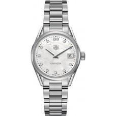 Réplicas Tag Heuer Carrera Madre de Pearl Dial Reloj de mujer WAR1314.BA0778