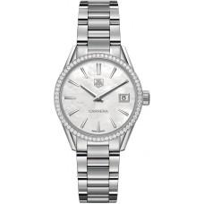 Réplicas Tag Heuer Carrera Madre de Pearl Dial Diamante Reloj de mujer WAR1315.BA0778