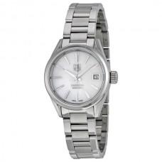 Réplicas Tag Heuer Carrera Automatico Blanco Madre de Pearl Dial Reloj de mujer WAR2411.BA0776