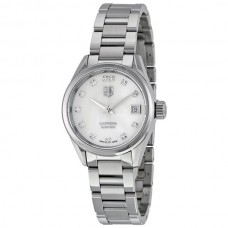 Réplicas Tag Heuer Carrera Automatico Blanco Dial Reloj de mujer WAR2414.BA0776
