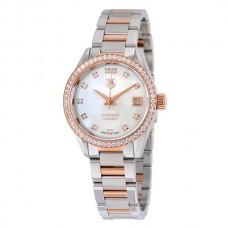 Réplicas Tag Heuer Carrera Madre de Pearl Dial Reloj de mujer WAR2453.BD0777