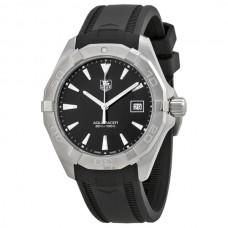 Réplicas Tag Heuer Aquaracer Dial Negro Caucho negro WAY1110.FT8021