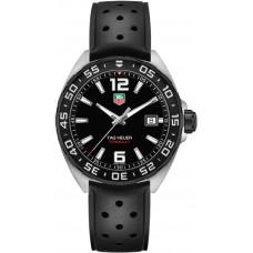 Réplicas Tag Heuer Formula 1 Dial Negro Caucho negro WAZ1110.FT8023