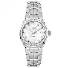Réplicas TAG Heuer LINK Blanco Mother of Pearl and Diamante Dial Diamante Bezel Reloj WBC1316.BA0600