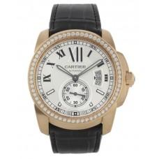 Calibre De Cartier Diamond Oro rosado Automatic hombres Reloj WF100005