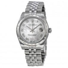 Réplicas Rolex Datejust Lady 31 RLX178344MRDJ Reloj de se?ora automático de acero inoxidable con esfera madreperla