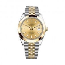 Réplicas Rolex Datejust 41 126303CSJ Champagne Dial acero y 18K oro amarillo Jubileo reloj RLX126303CSJ