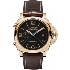 Réplicas Réplicas panerai Luminor 1950 3 Days Chrono Flyback Automatic Oro rosa PAM00525