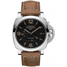 Réplicas Réplicas panerai Luminor 1950 10 Days GMT Automatic acero PAM00533