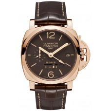 Réplicas Réplicas panerai Luminor 1950 8 Days GMT Oro rosa PAM00576
