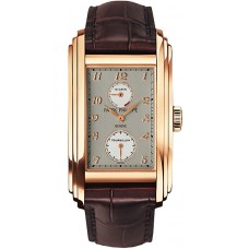 Patek Philippe 10 Day Tourbillion Dark plata marron Cuero hombres Reloj 5101R