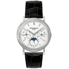 Patek Philippe Annual Calender Moonphase esfera blanca Automatico hombres Reloj 5039G