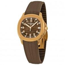Patek Philippe Aquanaut esfera marron 18k Oro rosa marron de goma Automatico hombres Reloj 5167R-001